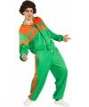 Trainingspak carnavalsoutfit groen oranje